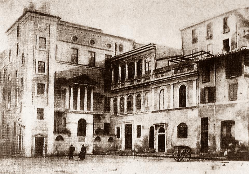 1876 Piazza delle Cinque Scole