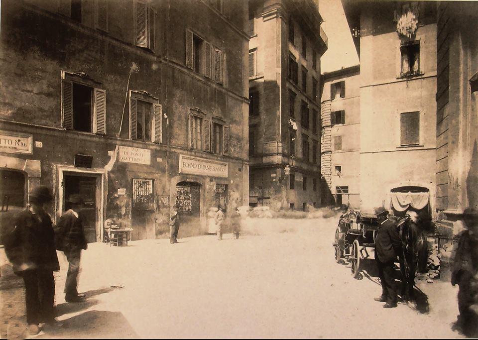 1884, via Ponte Quattro Capi, just outside Ponte Fabricio towards the ghetto