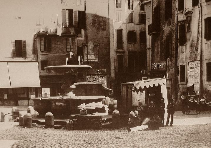 1899 Piazza Giudia side S.Maria del Pianto