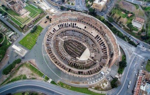Coliseum aerial view