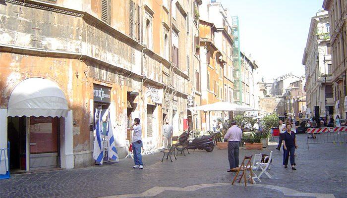 Portico d'Ottavia street